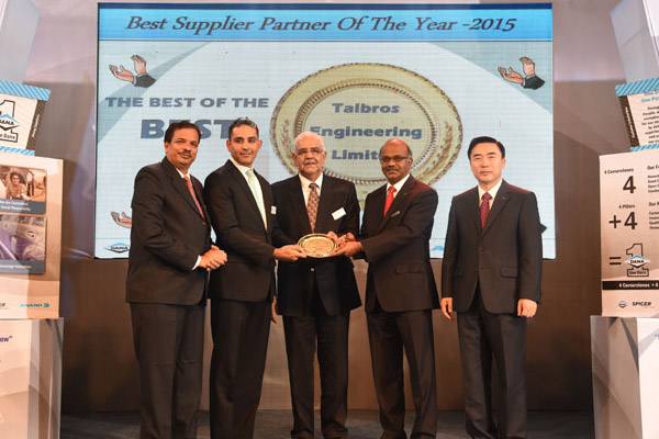 Best Supplier Performance Award - 2016